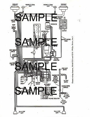 willys jeep universal models cj5 cj6 cj 5 cj 6 cj5 cj6 wiring diagram  gmbk  ebay