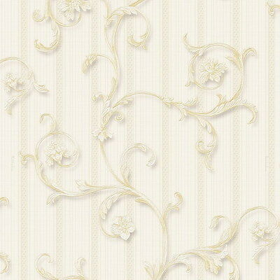 Vinyl Tapete Barock Retro # beige # Fujia Decoration # 85526