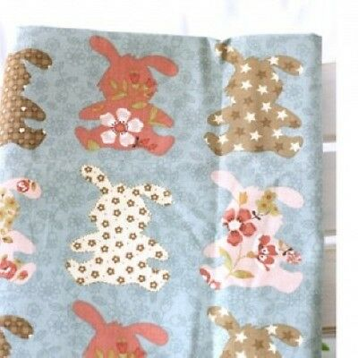BUNNY RABBIT 2 COLOR 1YARD QUILTING CRAFTS HOME DECO NEW FABRIC 100%COTTON