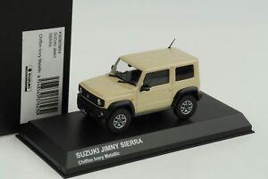 Suzuki-Jimny-Sierra-Chiffon-Ivory-Metallic-Rhd-1-43-Kyosho-Diecast