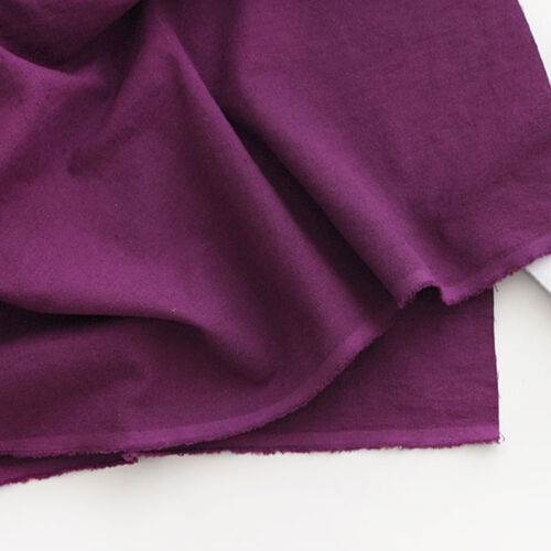 "100/% Washed linen fabric Solid  by the Yard 60/"" Wide Purple cozy linen solid"