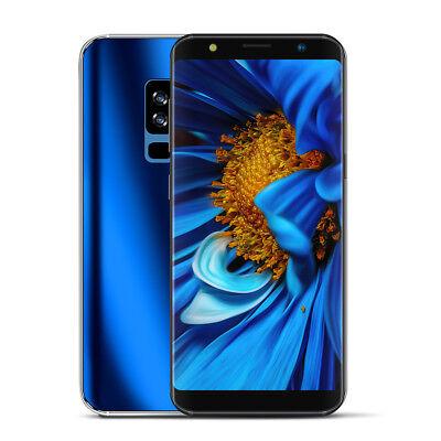 """6.1"""" 4 + 64GB Smartphone téléphone portable mobile Écran incurvé Bleu"""