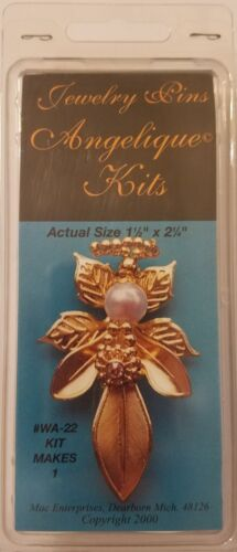 Angelique Kits Gold Metal Angel Leaf Pin Beaded Jewelry Crafts Mac Enterprises