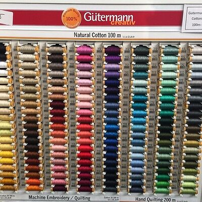 Gutermann 103C-9430 Natural Cotton Thread 110yd-Grey