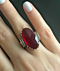 Turkish-Handmade-Sterling-Silver-925-Ruby-Ring-Ladies-6-7-8-9-10