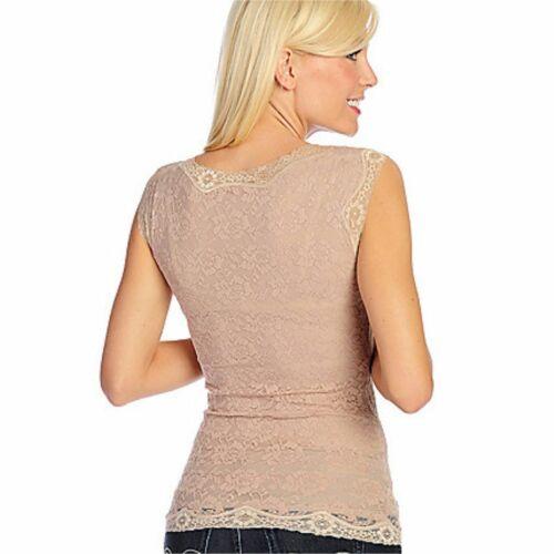 Slim N Lift Caresse Shapewear Stretch Lace Sleeveless V-Neck Corset Body Top