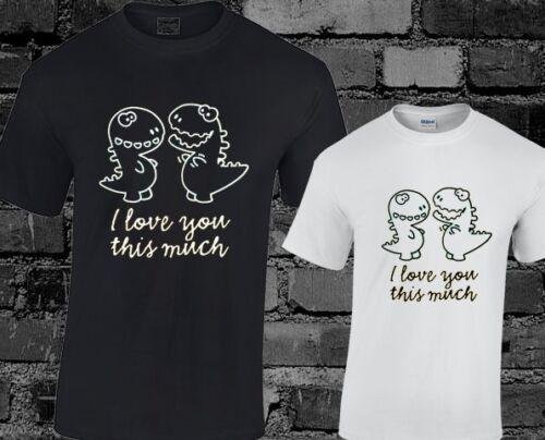 Je vous aime beaucoup ce t shirt homme Dinosaure comédie drôle cadeau de nouveauté Tumblr