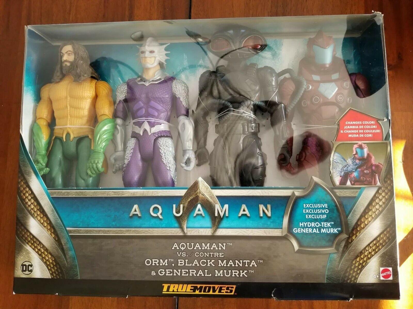 Nouveau truemoves 2018 DC Movie figurine Aquaman Figure 4pk