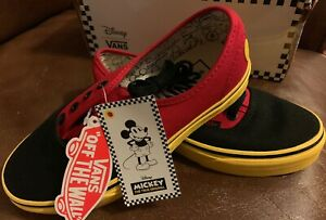 01d9ad3aaf7cab Vans Authentic Disney Mickey Red Yellow Mens Size 4 Womens Size 5.5 ...