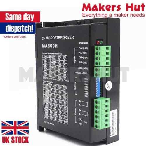 MA860H CNC Stepper Driver Board Controller 2.6-7.2A AC18-80V DC24-110V 2//4 Phase