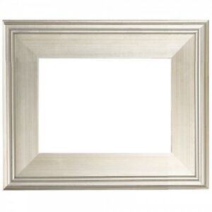 24x30 Classic Modern Picture Paint Frame Plein Air Wood Silver 3