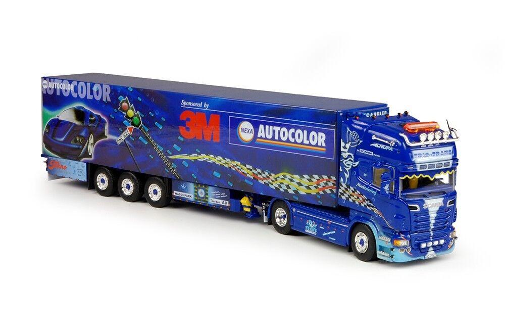 TEK64837 - Camion SCANIA R09 Topline avec remorque frigorifique aux couleurs du