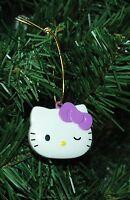Hello Kity Christmas Ornament, Purple Bow