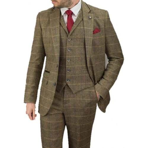 Costume Chevrons Motif Tweed Hommes Classique Pièces 3 Gris Foncé Fine  Vintage X6Zwazf 640e07b34c5f