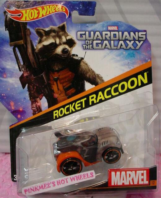 Hot Wheels Guardians of the Galaxy #12 Rocket Raccoon Die-cast Marvel  CBD31