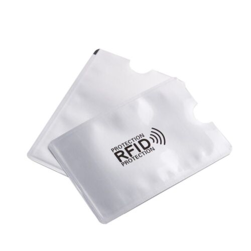 10x RFID Schutzhülle Blocker NFC Datenschutz Abschirmung EC Karte Kreditkarte