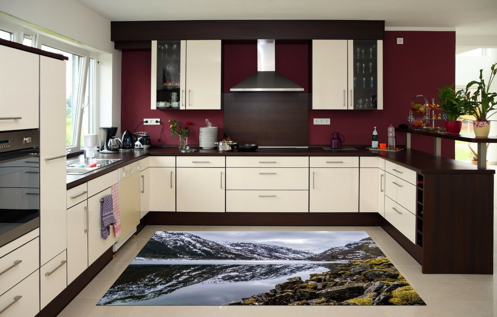 3D Mountain Lake 8 Kitchen Mat Floor Murals Wall Print Wall AJ WALLPAPER AU Kyra