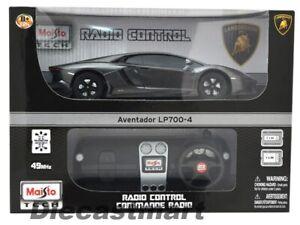 MAISTO-TECH-1-24-LAMBORGHINI-AVENTADOR-LP700-4-RADIO-CONTROLLED-CAR-DARK-GREY