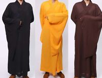 Buddhist Monk Shaolin Meditation Uniform Kung Fu Meditation Cambric Thin Robe
