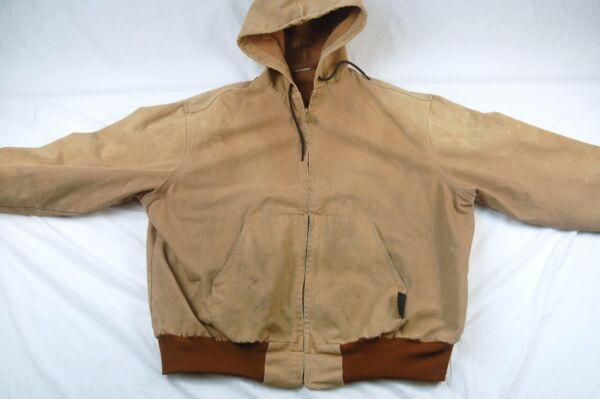 Unionline Men s XL Duck Cloth Lined Hooded Jacket - ROUGH  H950 3ba3b49085b6