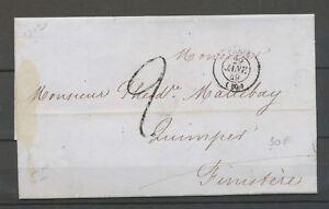 20-Janvier-1849-Lettre-Cachet-a-date-PARIS-60-Taxe-2d-X3159