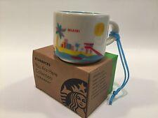 New Starbucks Miami You Are Here Series 2 oz. DEMI Starbucks ORNAMENT Free Ship!