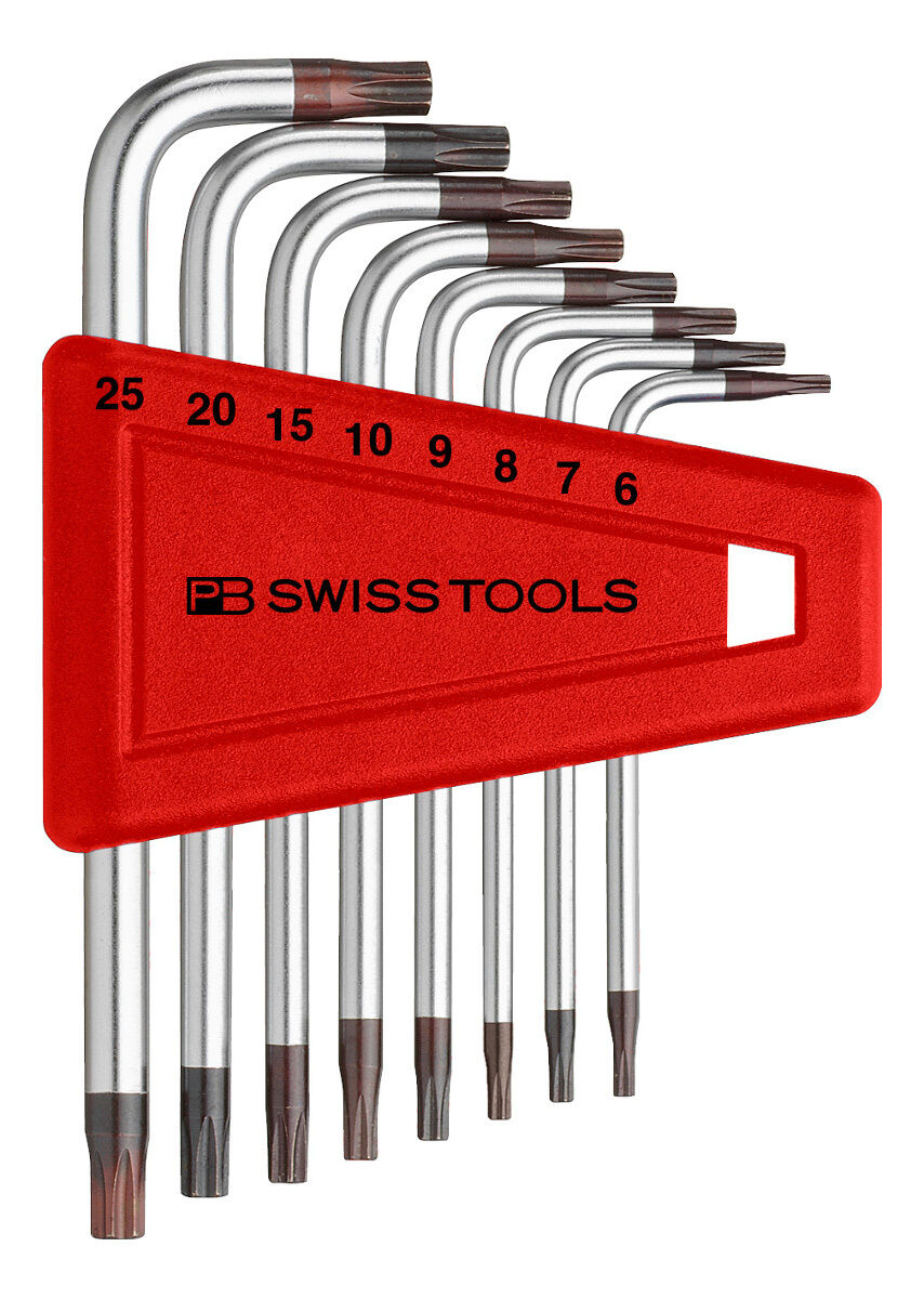 PB Swiss Tools PB 410.H 6-25 Torx Key Set T6-T25 8-Piece