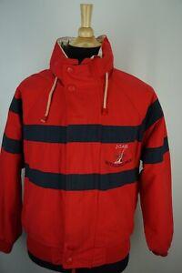 Nautica-VINTAGE-Red-Blue-Striped-J-Class-Nautica-Challenge-Hidden-Hood-Jacket-M
