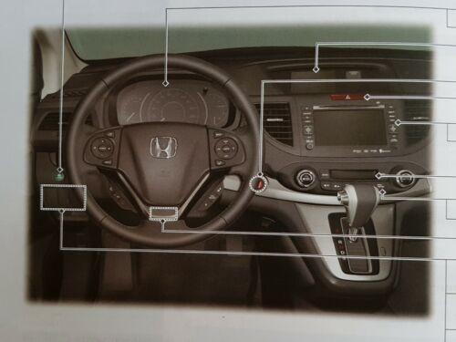 GENUINE HONDA CR-V 2012-2015 HANDBOOK OWNERS MANUAL NAVI WALLET PACK M-288 !