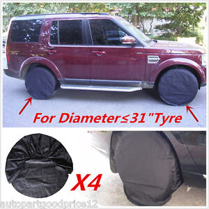 4pcs Wheel Tire Covers For Offroad RV Trailer Camper Truck