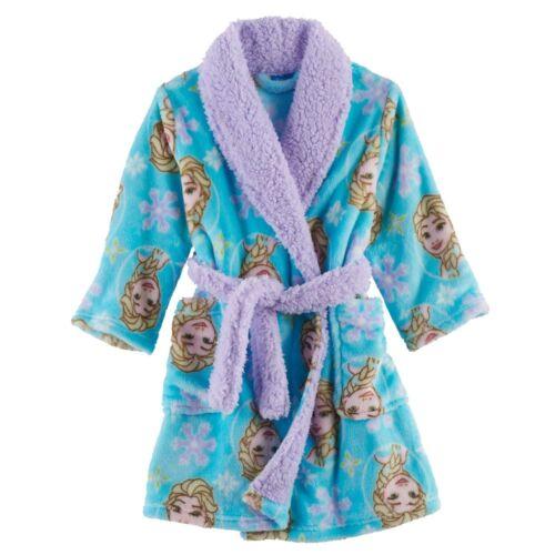 Disney 2T Elsa Frozen Plush Bathrobe Robe Toddler Girl Clothes