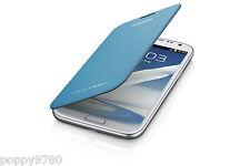 NEW Original OEM Samsung Galaxy Note 2 Protective Flip Cover Case  - Light Blue