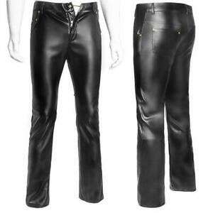 Sexy-Men-039-s-Faux-leather-trousers-GAY-Latex-Pants-Gothic-Spandex-Skinny-Tight-SH7