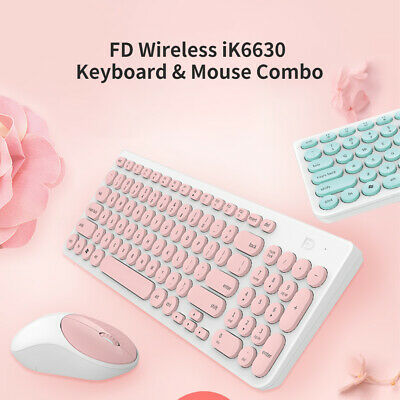Details about  FD Wireless iK6630 Keyboard & Mouse Combo 2.4GHz Round Key Set for PC Laptop