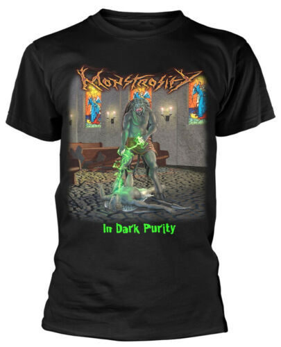 NEW /& OFFICIAL! T-Shirt Monstrosity /'In Dark Purity/' Black