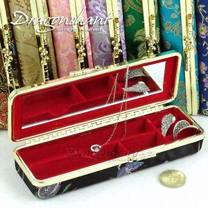Oriental-Travelling-Jewellery-Box-Trinket-Small-Storage-Casket-Organiser-Mirror
