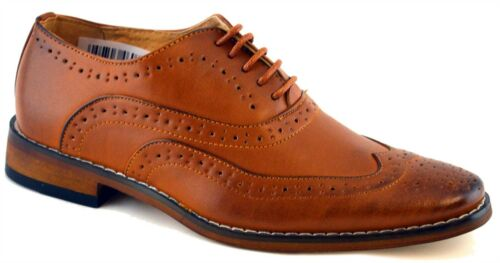 Boys Formal Shoes Leather Lined Lace Up Wedding Smart Brogues Size