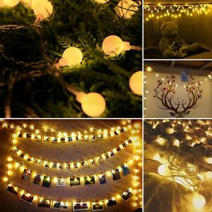 Image Is Loading Le Globe String Lights 33ft 100 Led Waterproof