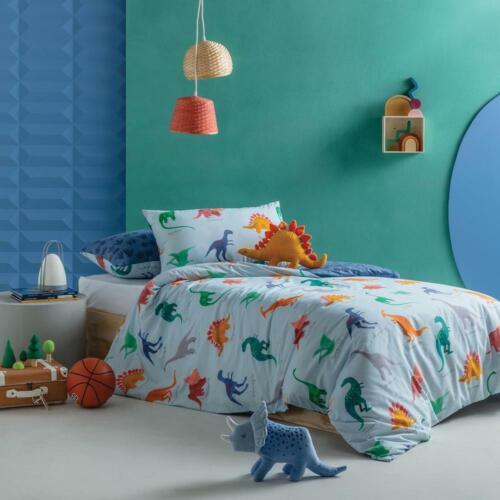 Kas Dinosaur Kids Dreamer Quilt Cover Set Multi