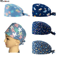 Scrub hat theatre cap CAMOUFLAGE CAMO for Long Hair with sweatband and ajutable to your liking Nurse Veterinary Dentist Doctor