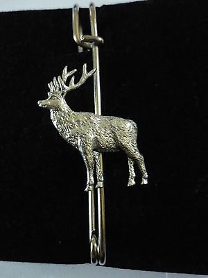 "Fashion Jewelry Pins & Brooches Stag Codea19 Scarf And Kilt Pin Pewter 3"" 7.5 Cm"