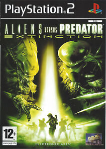 ALIENS-VERSUS-PREDATOR-EXTINCTION-for-Playstation-2-PS2-complete-PAL