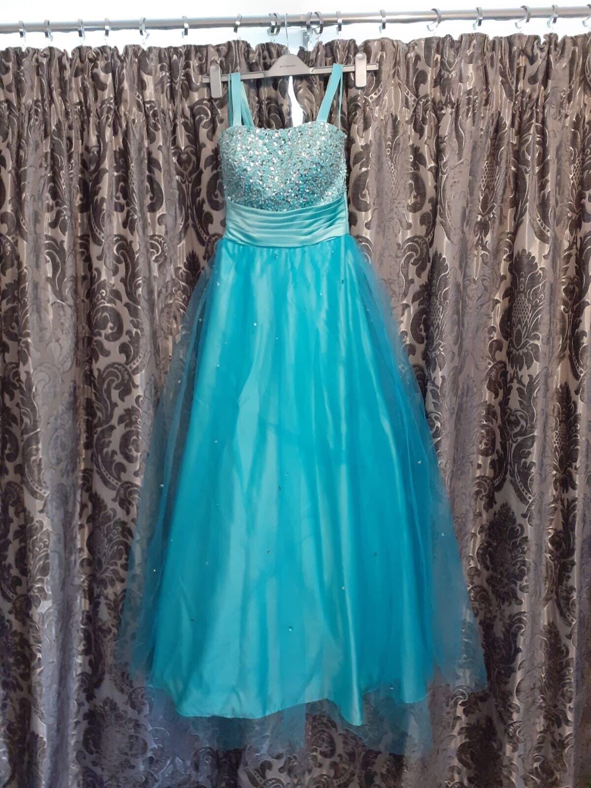 ** 👗 ** Cyan Blue Prom Dress ** 👗 **