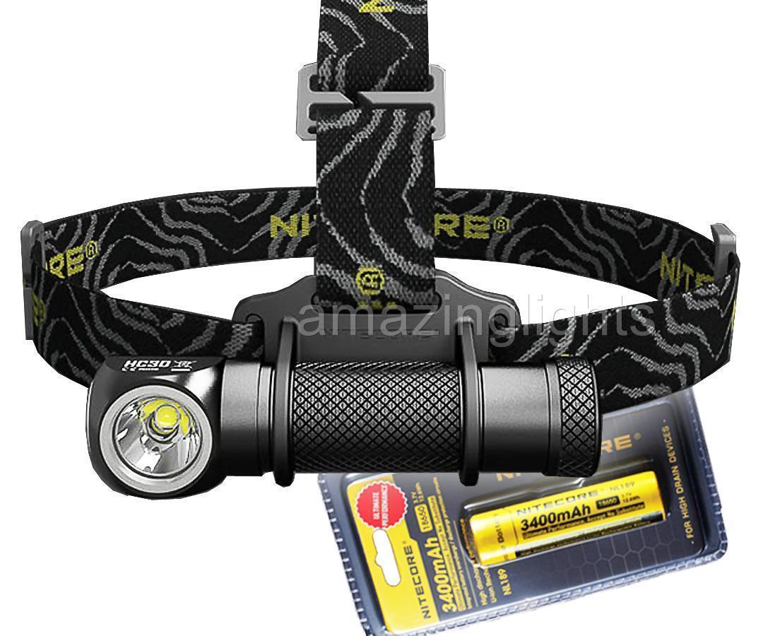 Nitecore HC30 LED 1000 Lumen Headlamp with 3400 mAh  18650 Battery  fashion mall