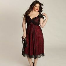b5b72ef2d04 item 2 New Women Plus Size Sexy V Neck Lace Dress Loose Casual GOTHIC  Dresses Clothing -New Women Plus Size Sexy V Neck Lace Dress Loose Casual  GOTHIC ...
