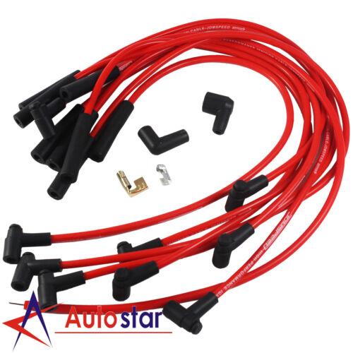 New Red BBC Big Block Chevy 454 Spark Plug Wires Set HEI STR Over Valve Cover