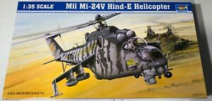 Trumpeter-Mil-Mi-24V-Hind-E-Helicopter-1-35-NIB-Model-Kit-Sullys-Hobbies
