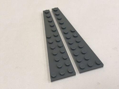LEGO Pair of Dark Bluish Gray 12x3 Wedge Plate Piece
