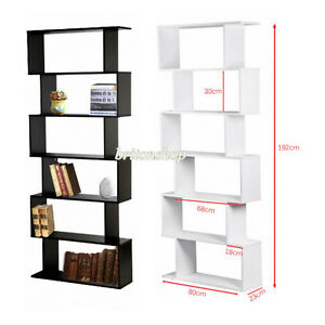 Image Is Loading Panana 6 Tier S Shape Bookshelf Bookcase Display
