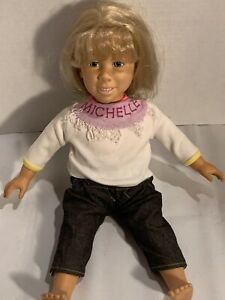 Vintage-Full-House-Talking-Michelle-Tanner-Doll-Meritus-1991-with-Doll-Stand